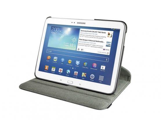 Tablette Store - Étui Rotatif Galaxy Tab 3 10.1 - Noir Vue