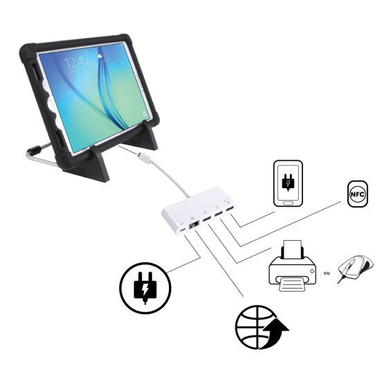 Usage Tablette - Bureau Hub de Rechargement