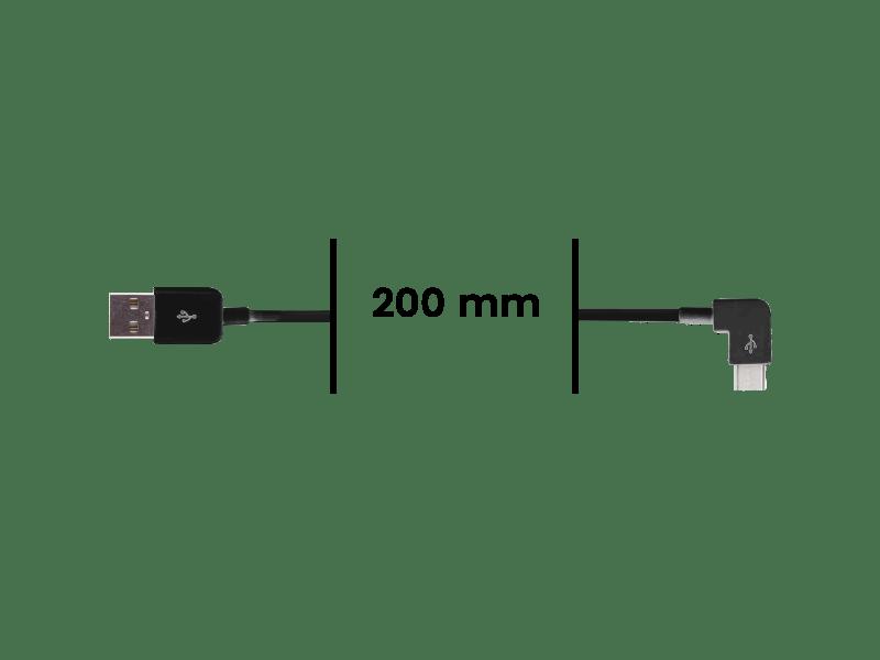 Cable Micro USB Coudé vers USB - Noir