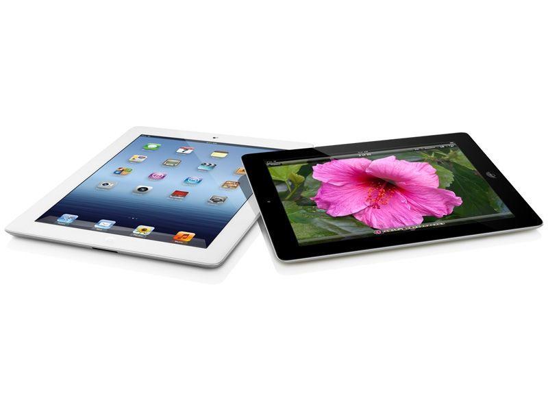 Apple - Nouvel iPad - Noir Blanc Vue à Plat
