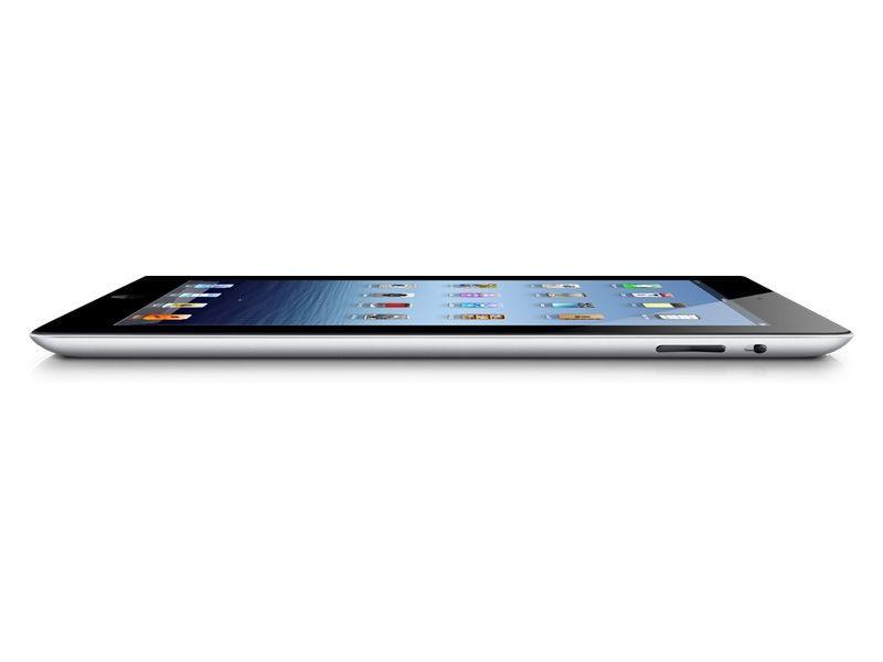 Apple - Nouvel iPad - Blanc Vue Profil