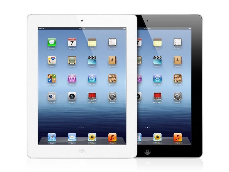 Apple - Nouvel iPad - Blanc et Noir Vue Face