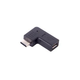 TabConnect - Adaptateur Coudé Type-C vers micro USB